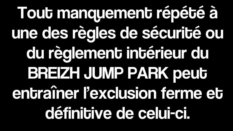 reglement trampoline sécurité